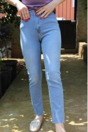 Buz Mavisi Boy Fit Model Kesik Paça Jean