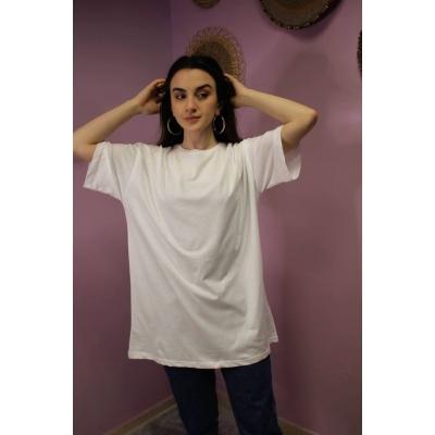 Oversize Beyaz Basic T-shirt