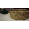 Mısır Koçanı/Kendir İpi Dikimli Handmade Yuvarlak Sepet/Organizer
